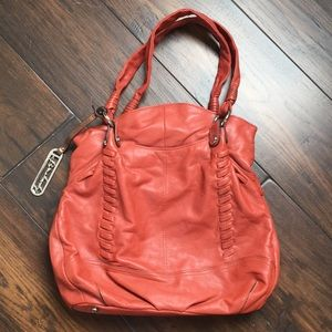B.Makowsky Burnt Orange Hobo Bag